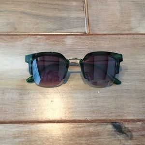Accessories - Green Trimmed Shades
